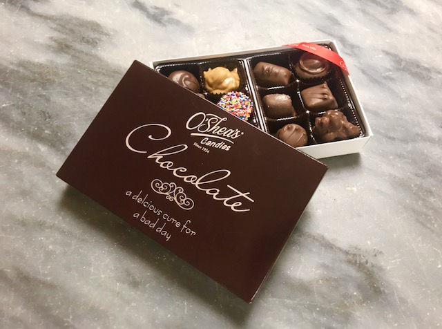 """O'Shea's """"Delicious Cure For A Bad Day"""" Assorted Chocolate"""