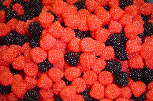 O'Shea's Gummi Red & Black Raspberries