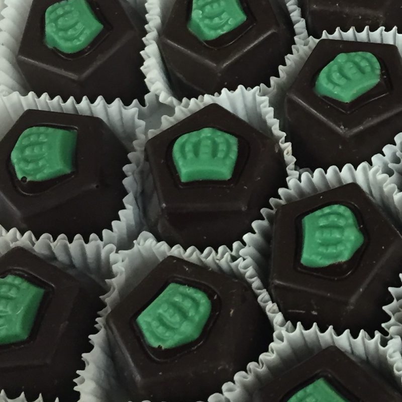 O'Shea's Dark Chocolate French Mint CrownTruffle