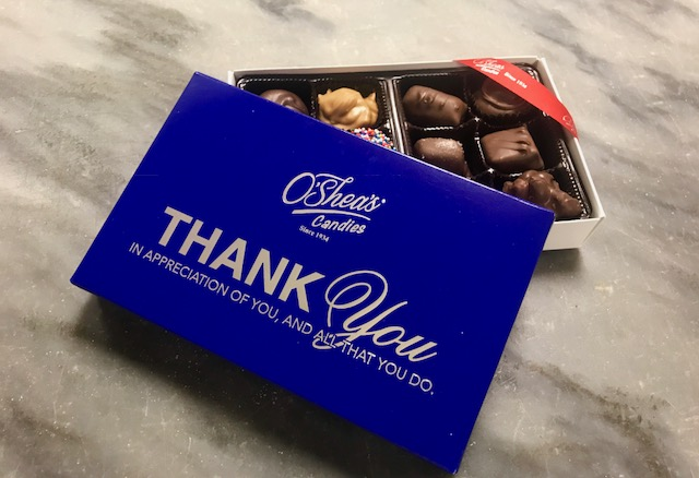 "O'Shea's ""Thank You"" Assorted Chocolate"