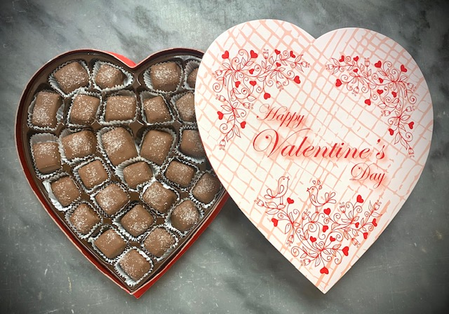O'Shea's Heart Box Of Chocolate Covered Salted Caramels