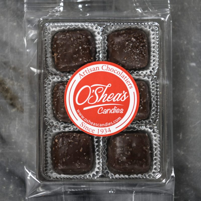 Snack Pack 6 Pc – O'Shea's Dark Chocolate Sea Salt Caramels